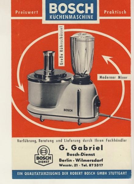 Bosch Kuchenmaschine 50 Er Jahre